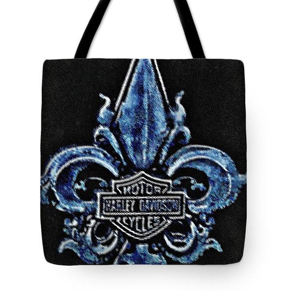 Harley Davidson Fleur De Lys Logo Tote Bag