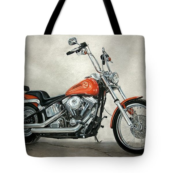Harley Davidson Tote Bag by Heather Gessell