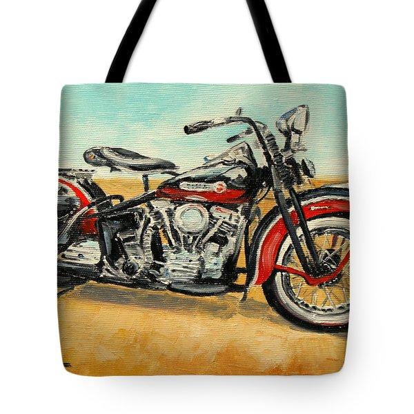 Harley Davidson Panhead Tote Bag