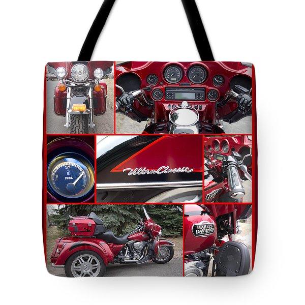 Harley Davidson Ultra Classic Trike Tote Bag