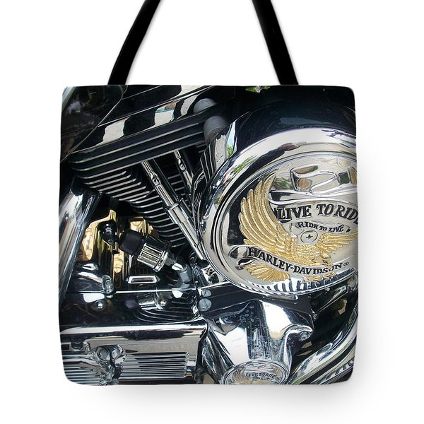 Harley Live To Ride Tote Bag