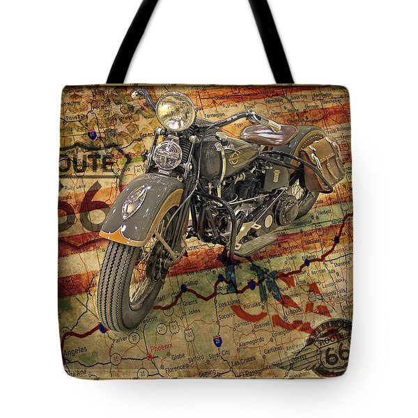 Harley On 66 Tote Bag