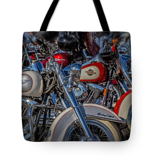 Tote Bag featuring the photograph Harley Pair by Eleanor Abramson