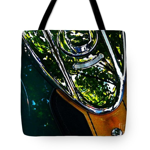 Harley Tank In Oils Tote Bag by Chris Berry
