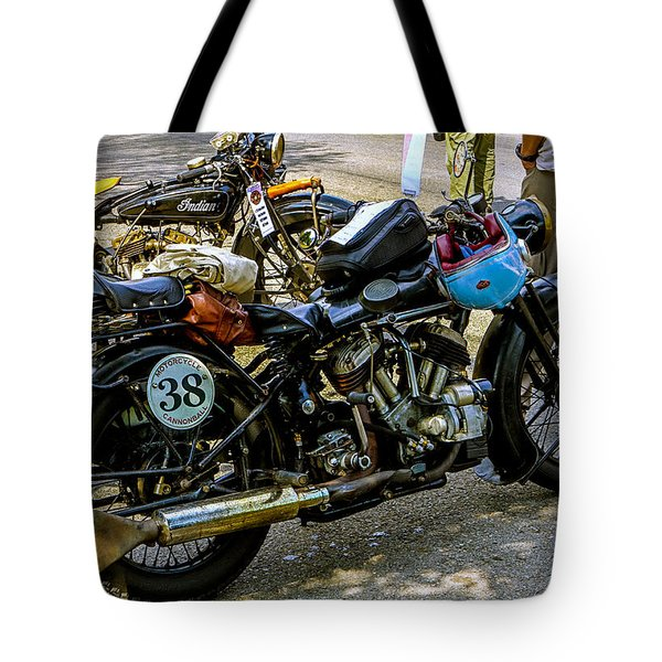 Harleys And Indians Tote Bag