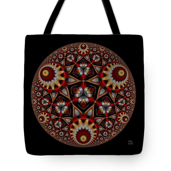 Tote Bag featuring the digital art Harmonia by Manny Lorenzo