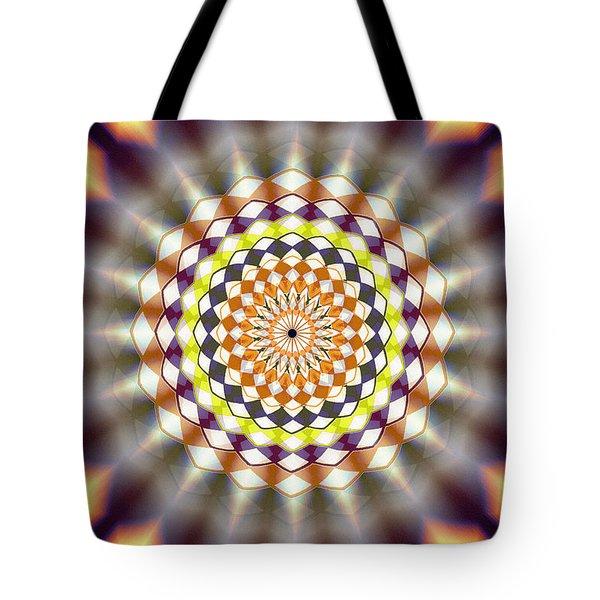 Tote Bag featuring the drawing Harmonic Sphere Of Energy by Derek Gedney