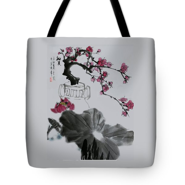 Harmony And Beauty Tote Bag by Yufeng Wang