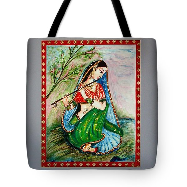 Tote Bag featuring the painting Harmony by Harsh Malik