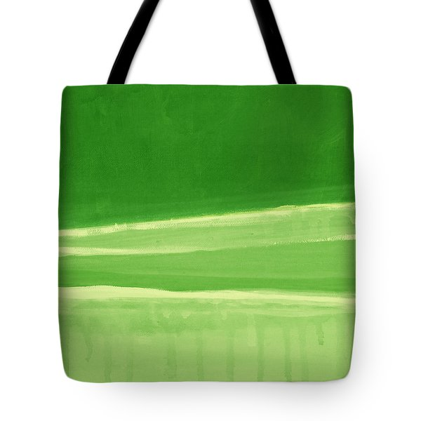 Harmony In Green Tote Bag by Linda Woods