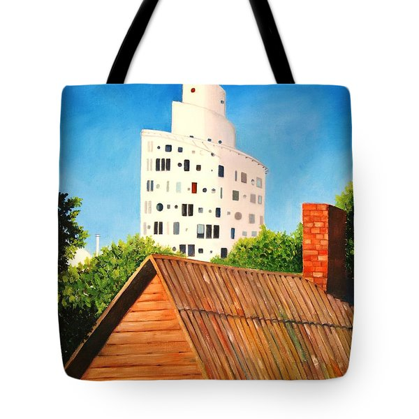 Harmony Of Old And New  Tote Bag