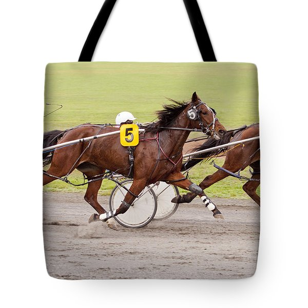 Harness Racing Tote Bag by Michelle Wrighton