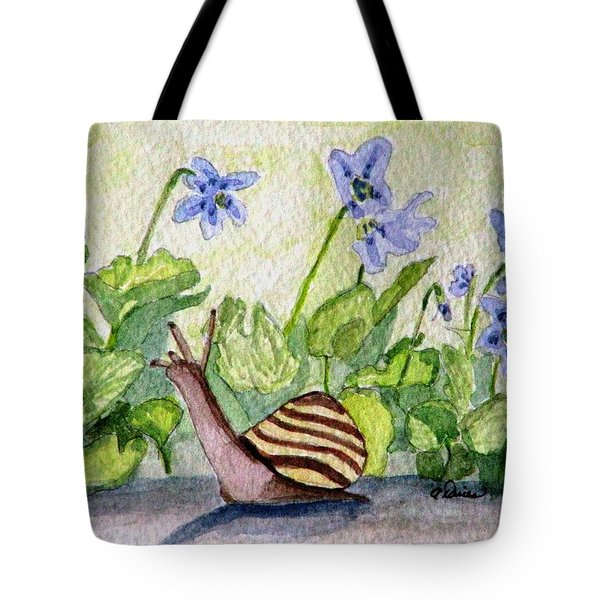 Harold In The Violets Tote Bag by Angela Davies