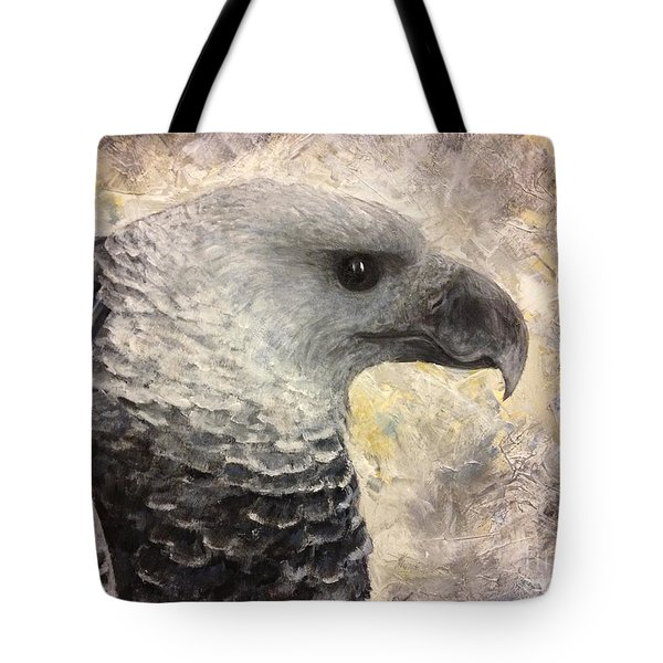 Harpy Eagle Study In Acrylic Tote Bag by K Simmons Luna