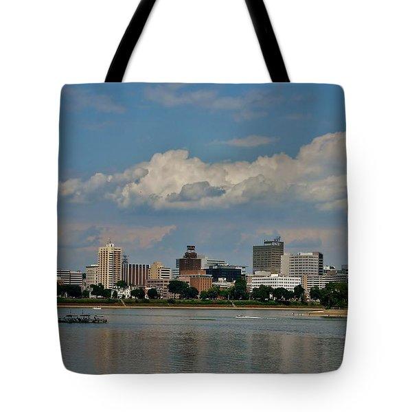 Harrisburg Skyline Tote Bag by Ed Sweeney