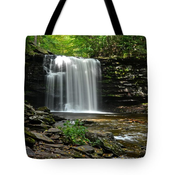 Harrison Wright Falls Tote Bag by Frozen in Time Fine Art Photography