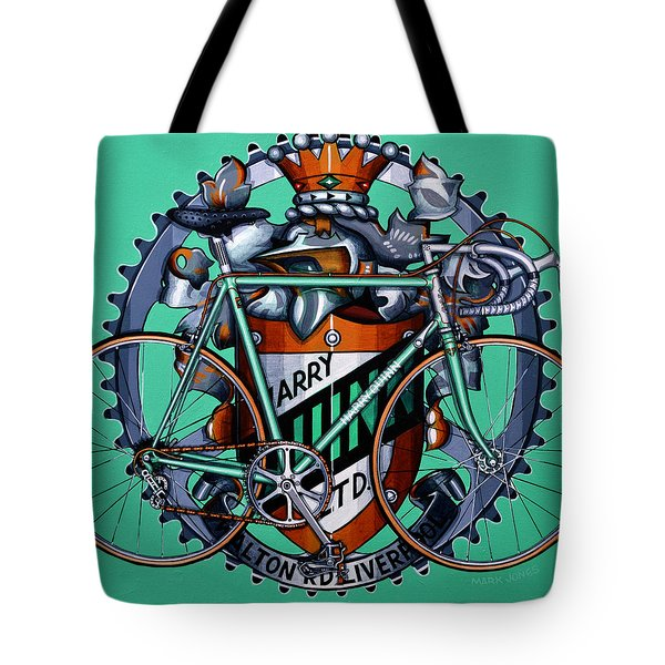 Tote Bag featuring the painting Harry Quinn by Mark Howard Jones