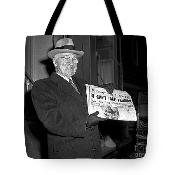 Tote Bag featuring the photograph Harry Truman 1959 by Martin Konopacki Restoration