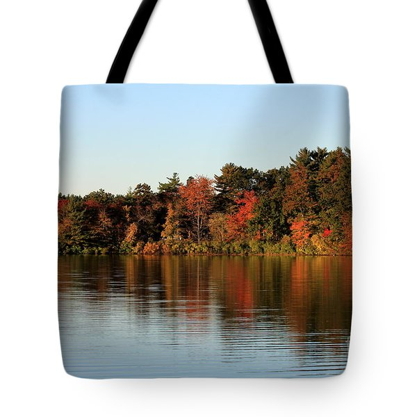 Hart Pond Golden Hour Tote Bag by Kenny Glotfelty