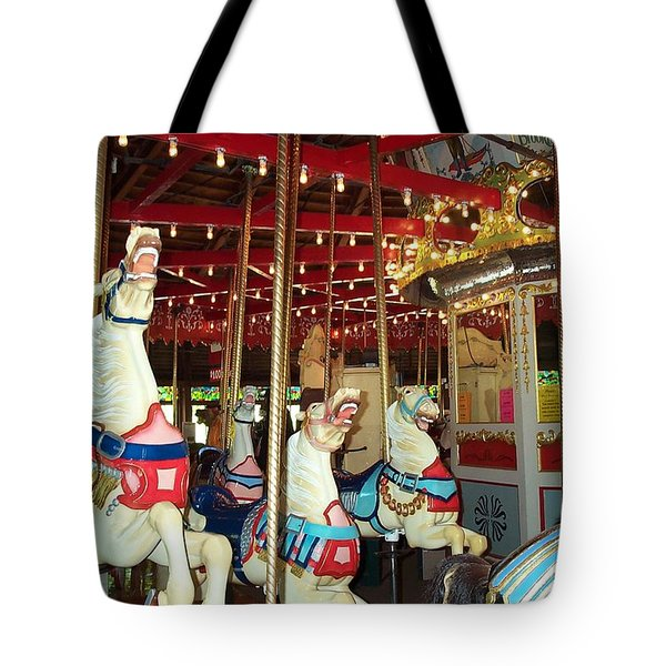 Tote Bag featuring the photograph Hartford Carousel by Barbara McDevitt