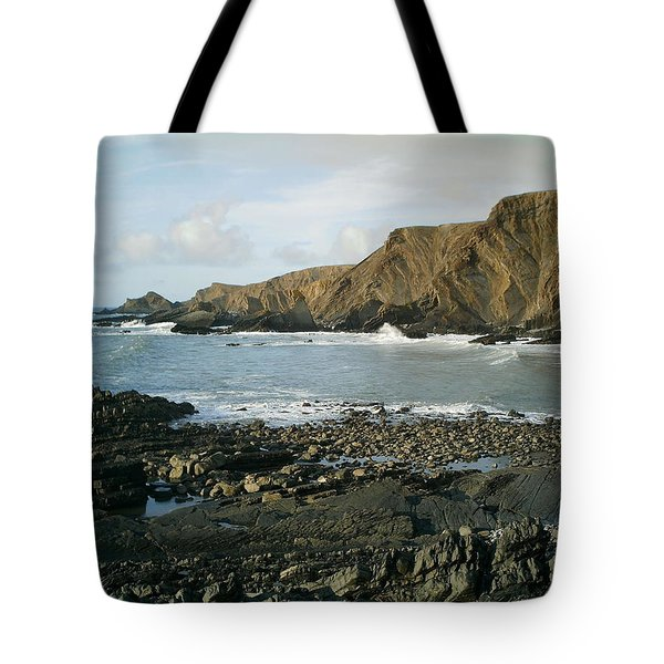 North Devon - Hartland Quay Tote Bag by Richard Brookes