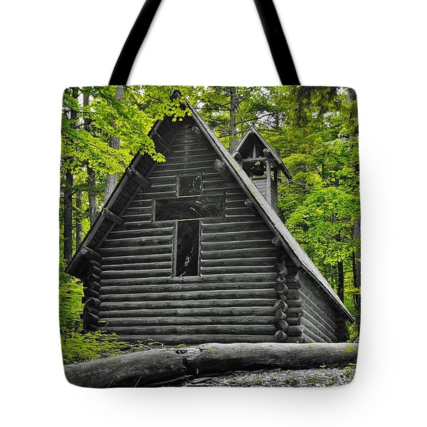 Hartwick Pines Chapel Bwg Tote Bag