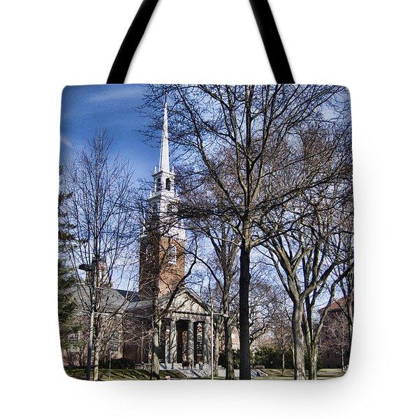 Harvard University Old Yard Church Tote Bag