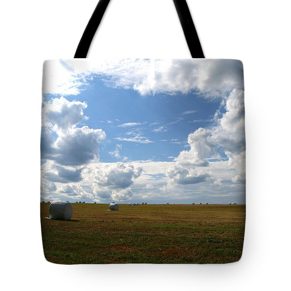 Harvest Blue  Tote Bag by Neal Eslinger