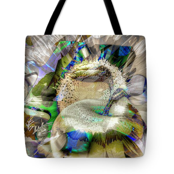 Tote Bag featuring the digital art Harvest by Eleni Mac Synodinos
