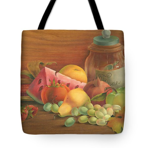 Tote Bag featuring the painting Harvest Fruit by Doreta Y Boyd
