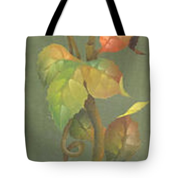 Tote Bag featuring the painting Harvest Grapevine by Doreta Y Boyd