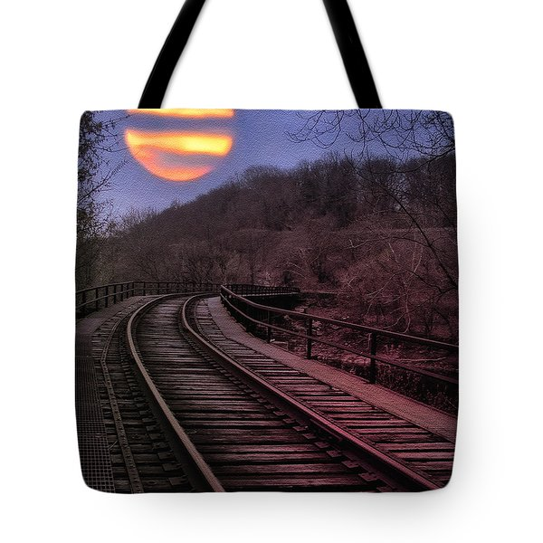 Harvest Moon Tote Bag by Bill Cannon