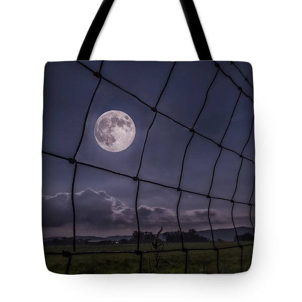 Tote Bag featuring the photograph Harvest Moon by Jaki Miller