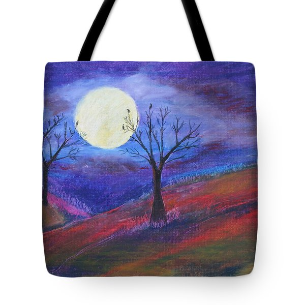 Harvest Moon 3 Tote Bag by Jeanne Fischer