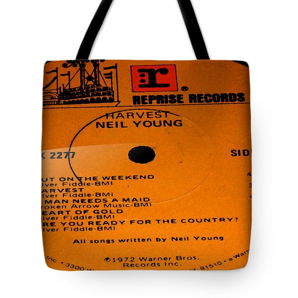 Harvest - Neil Young Side 1 Tote Bag