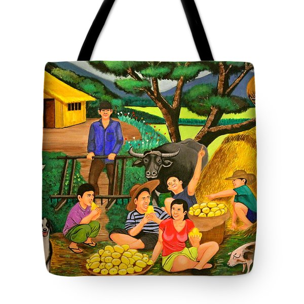 Harvest Time Tote Bag by Lorna Maza