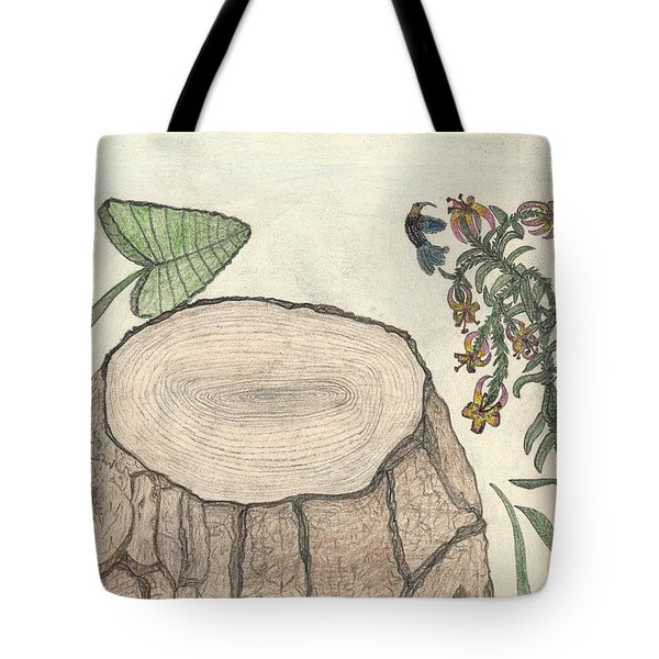 Tote Bag featuring the painting Harvested Beauty by Kim Pate
