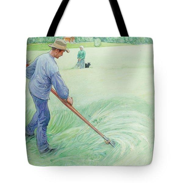 Harvesters Tote Bag by Carl Larsson