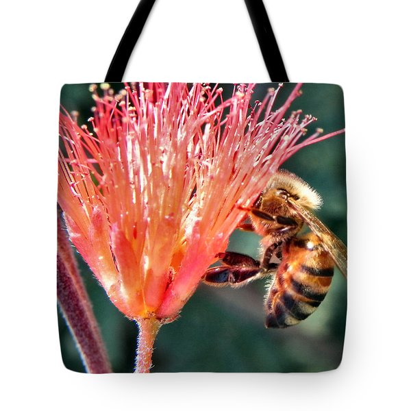 Tote Bag featuring the photograph Harvesting by Deb Halloran