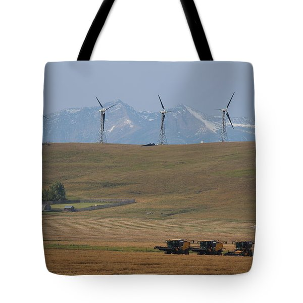 Harvesting Wind And Grain Tote Bag