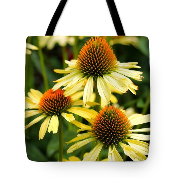 Harvest Moon Conehead Flower Tote Bag