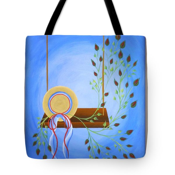 Hat On A Swing Tote Bag by Ron Davidson