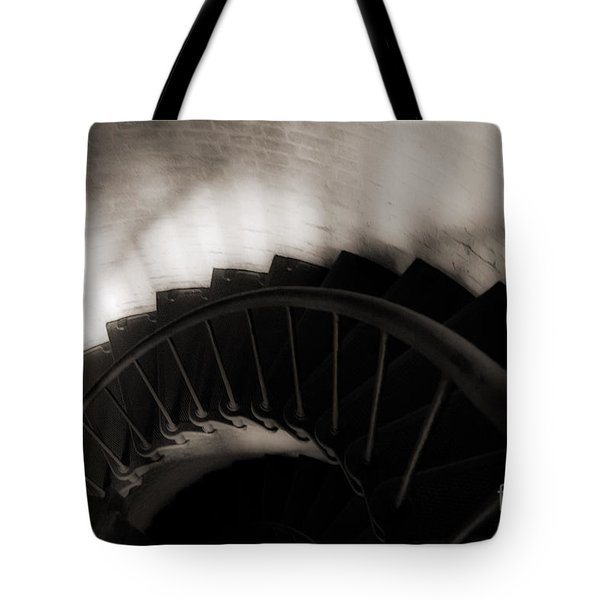 Tote Bag featuring the photograph Hatteras Staircase by Angela DeFrias