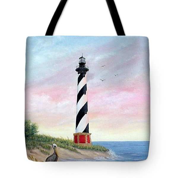 Hatteras Sunrise Tote Bag