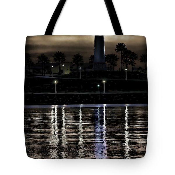 Haunted Lighthouse Tote Bag by Mariola Bitner