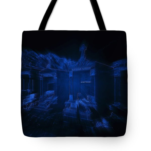 Haunted St Louis Cemetery No 3 New Orleans Tote Bag by Christine Till