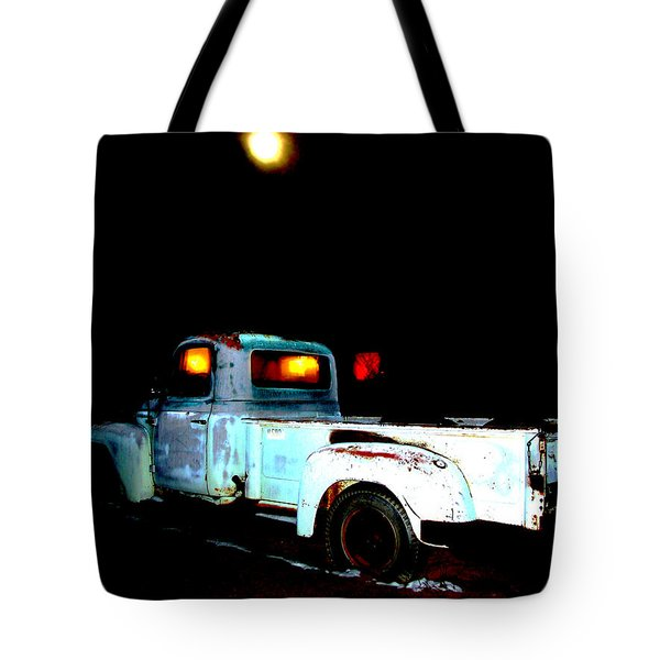 Tote Bag featuring the digital art Haunted Truck by Cathy Anderson