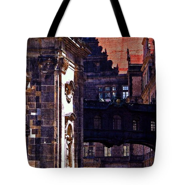 Tote Bag featuring the photograph Hausmann Tower In Dresden Germany by Jordan Blackstone