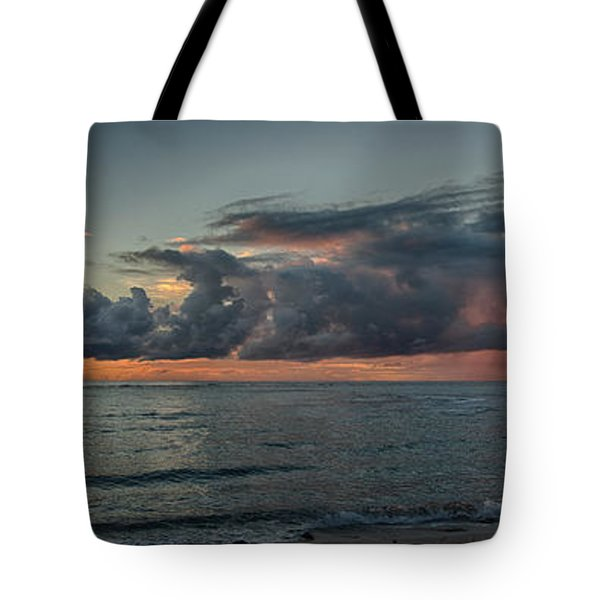 Hauula Sunrise Panorama Tote Bag