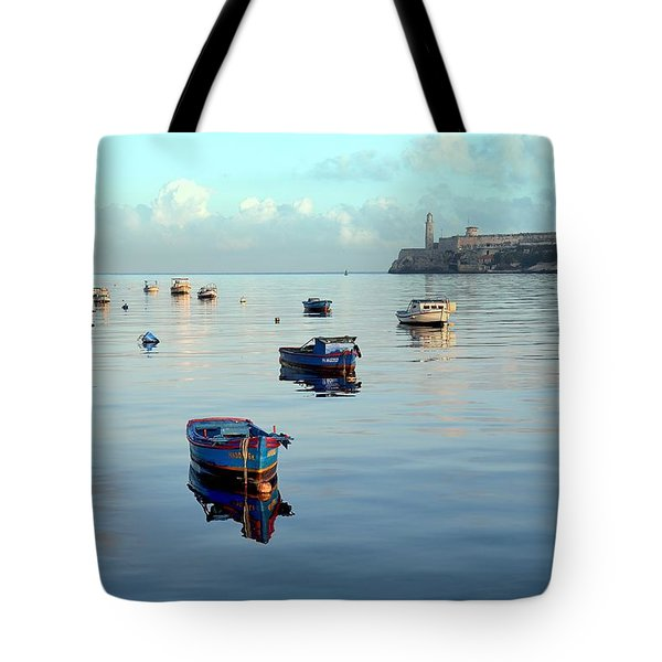 Tote Bag featuring the photograph Havana Maritime 2 by Steven Richman